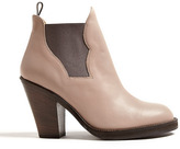 Acne Taupe Matte Finish Star Ankle Boots