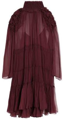 Chloé Ruffle-trimmed Gathered Silk-georgette Dress