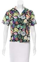 Rachel Antonoff Printed Button-Up Top