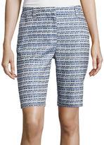 Liz Claiborne Jacquard Walking Shorts - Tall