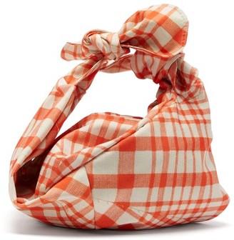 Simone Rocha Wrap Baby Gingham Taffeta Bag - Womens - Red Multi