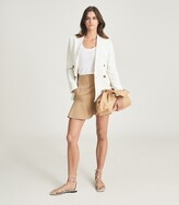 Thumbnail for your product : Reiss Luna - Mini Skirt With Frill Hemline in Camel