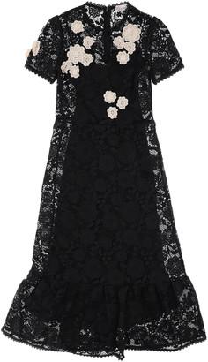 RED Valentino Macrame Lace Long Dress
