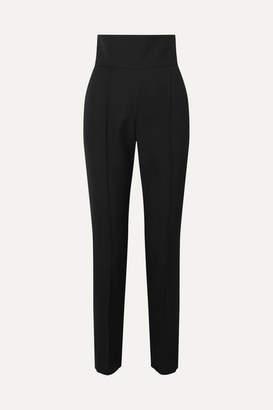 Alexandre Vauthier Wool-blend Gabardine Slim-leg Pants - Black