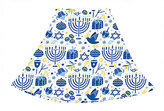 Urban Smalls Blue & White Hanukkah Circle Skirt - Toddler & Girls