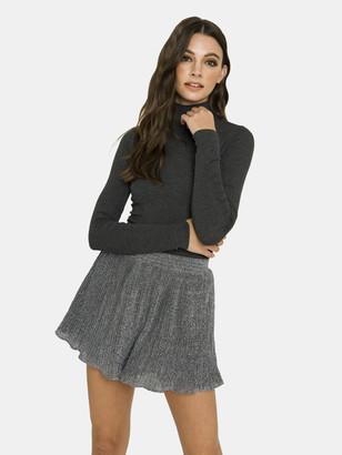 Endless Rose Metallic Pleated Shorts