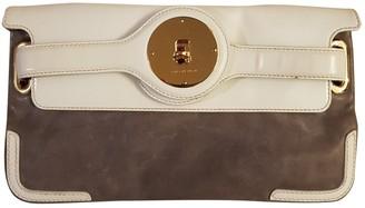 Balenciaga Grey Suede Clutch bags