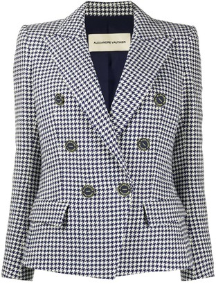 Alexandre Vauthier Double Breasted Houndstooth Blazer