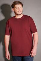 Yours Clothing BadRhino Burgundy Crew Neck Basic T-Shirt