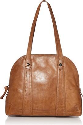 Frye Women's Melissa Leather Domed Zip Satchel Bag