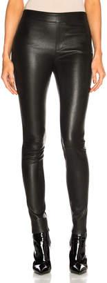 Helmut Lang Leather Legging in Black | FWRD