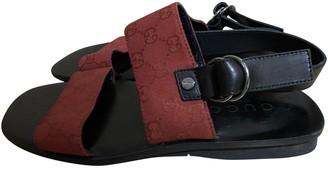 Gucci Red Cloth Sandals