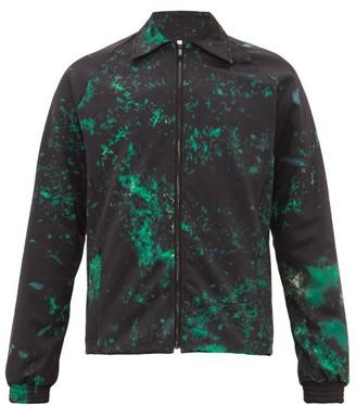 Cottweiler Cruise Abstract-print Technical Blouson Jacket - Mens - Black Green