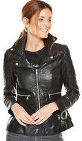 Very Leather Peplum Biker Jacket in Black Size 12