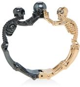 Alexander McQueen Two-tone Skeleton Bracelet