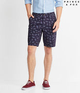 Aeropostale Mens Shark Print Shorts Blue