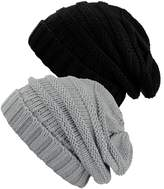 NYfashion101 Exclusive Oversized Baggy Slouchy Thick Winter Beanie Hat - 2 Pack