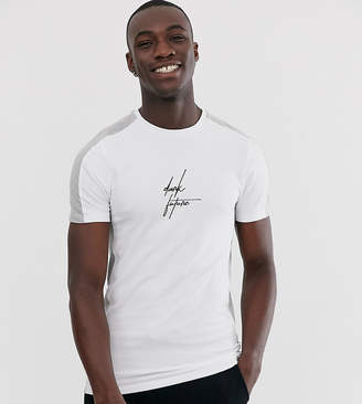 Asos Design DESIGN Tall skinny fit t-shirt with color block dark future logo-Multi