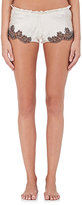 Carine Gilson Women's Flottant Lace-Trimmed Silk Shorts