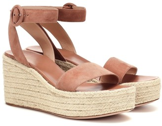 Gianvito Rossi Exclusive to Mytheresa Billie 45 suede espadrille wedges