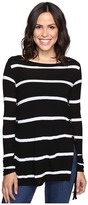 Brigitte Bailey Adelle Long Sleeve Top with Lace-Up Sides