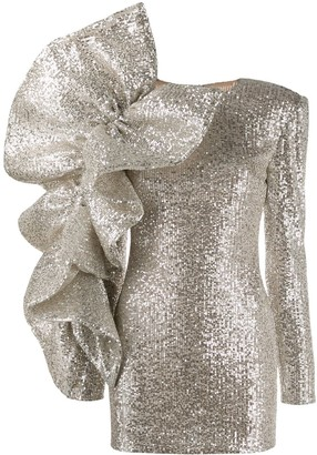 Loulou ruffled sequin mini dress