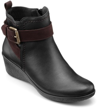 Hotter Plymouth Wam lined Wedge Ankle Boots