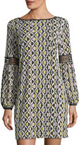 Laundry by Shelli Segal Geometric-Print Shift Dress