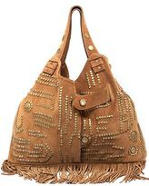 Peggy Wrap Bag Bold in Brown Suede