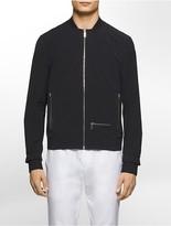 Calvin Klein Platinum Slim Fit Knit Trim Bomber Jacket