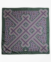Brooks Brothers Geometric-Print Silk Square Scarf
