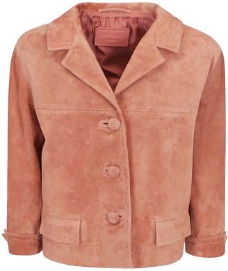 Prada Cropped Button-Up Jacket