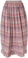 Isa Arfen ruffle-trim billow skirt
