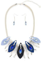 Jcuk JCUK Leaf Droplets Necklace Set