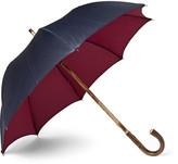 Francesco Maglia Lord Chestnut Wood-Handle Two-Tone Twill Umbrella