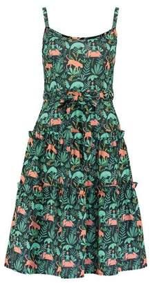 Lowie Tiger Print Josephina Dress - S - Green/Orange