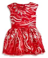 Halabaloo Little Girl's & Girl's Embroidered Ribbon Dress