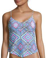 Arizona Mix & Match Apron Tankini Swimsuit Top-Juniors
