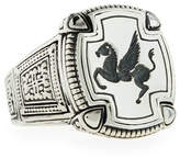 Konstantino Men's Pegasus Square Ring, Size 10