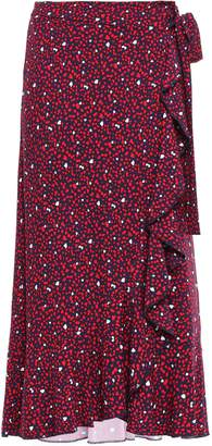 MICHAEL Michael Kors Ruffled Printed Jersey Midi Wrap Skirt