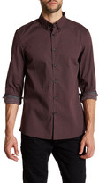 Kenneth Cole New York Collared Long Sleeve Print Woven Modern Fit Shirt