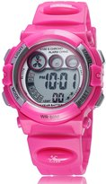 Zeiger New Digital Girls Teen Sports Kids Watch, Alarm Date Day Chronograph, Red Silicon Band