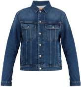 Acne Studios Blå Konst Tent point-collar denim jacket