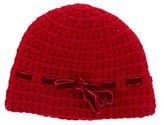 Bonpoint Girls' Velvet-Trimmed Wool Hat