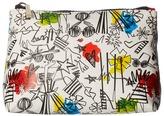 Alice + Olivia Stace Face Graffiti Print Small Cosmetic Pouch Cosmetic Case