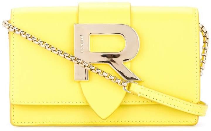 Rochas R plaque crossbody bag