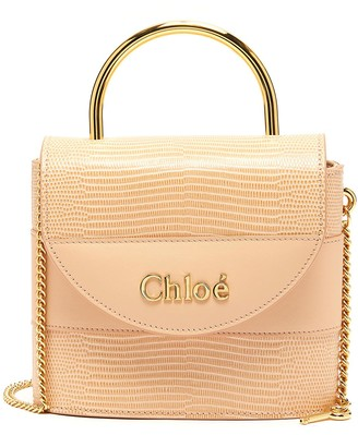 Chloé Abylock' lizard embossed leather handle bag