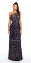 Camille La Vie One Shoulder Abstract Sequin Evening Dress