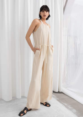 And other stories Drawstring Overall Jumpsuit