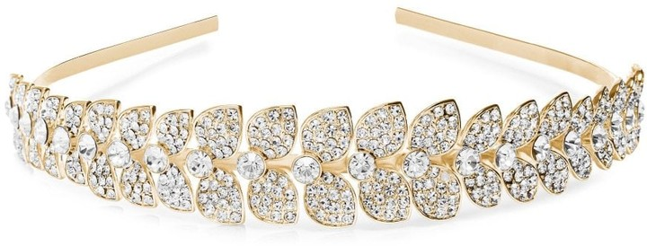 Jon Richard Jewellery MOOD - By Jon Richard GOLD PLATE CRYSTAL HEADBAND